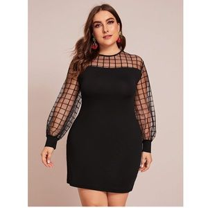 Check Me Out Mesh Panel Dress